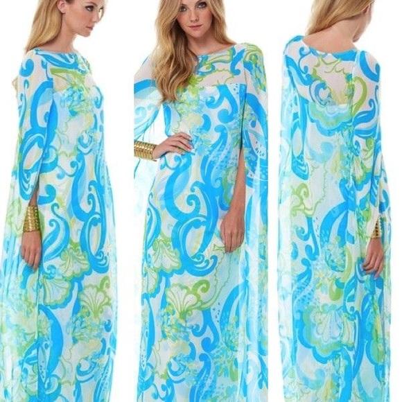 1fb14b46d6 Lilly Pulitzer Dresses & Skirts - Lilly Pulitzer Kingston Maxi Caftan